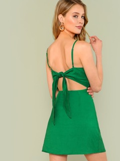 Tie Back Sheath Dress