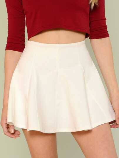 Flared Solid Skirt