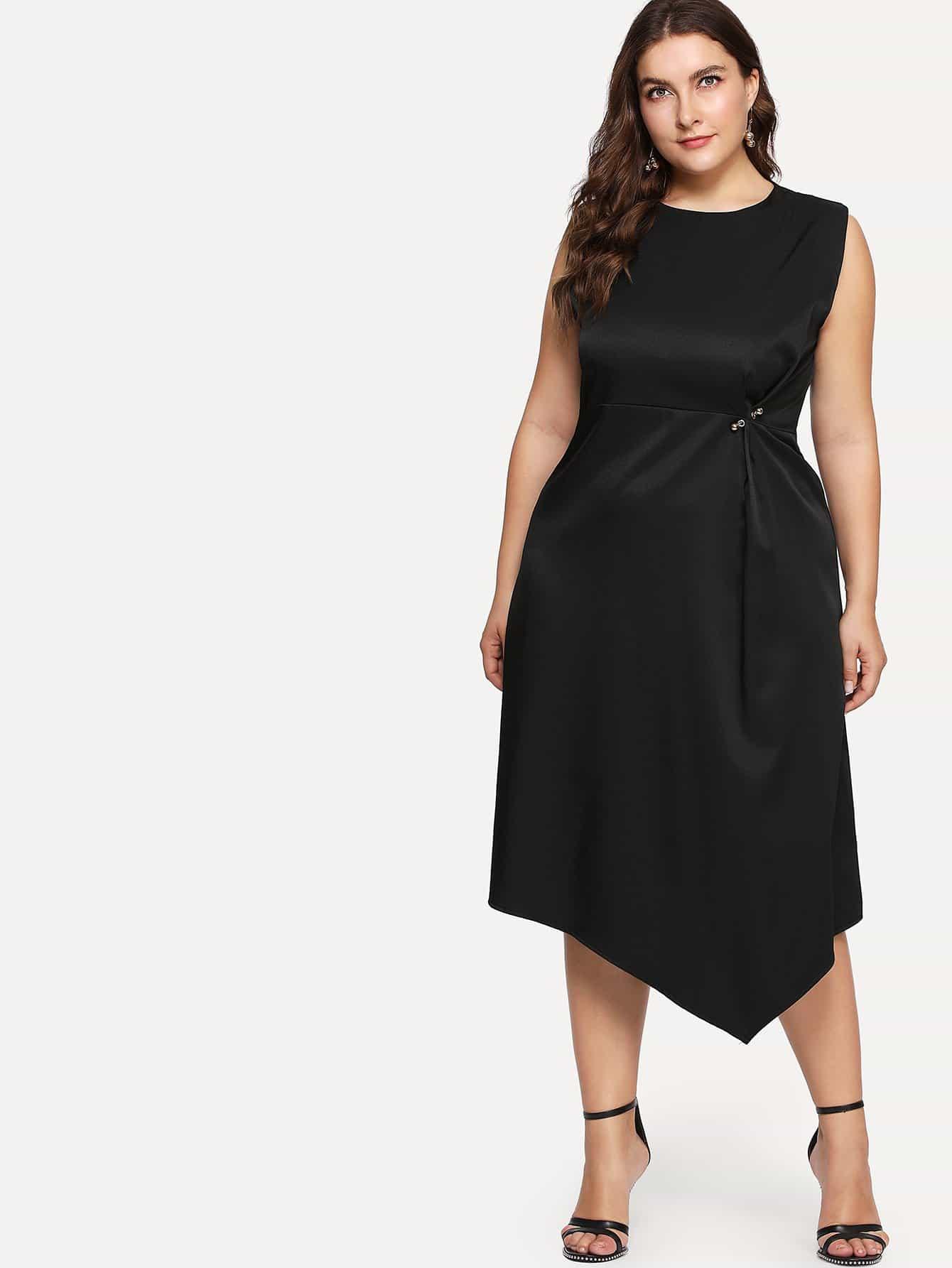 Asymmetrical Hem Dress asymmetrical hem color block dress