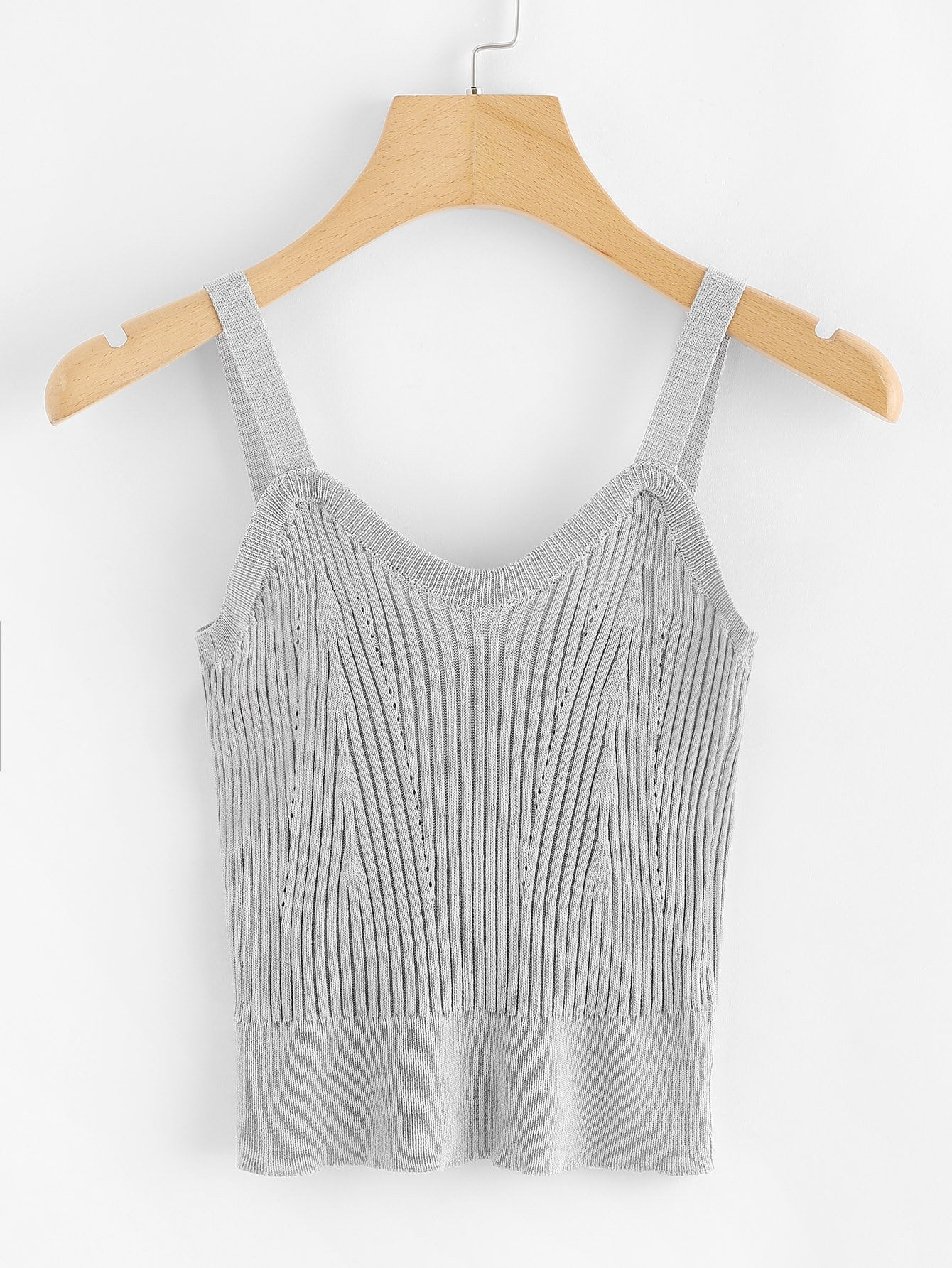 Ribbed Knit Cami Top rves180420161