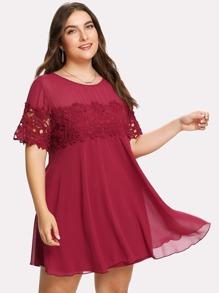 Floral Lace Applique Dress