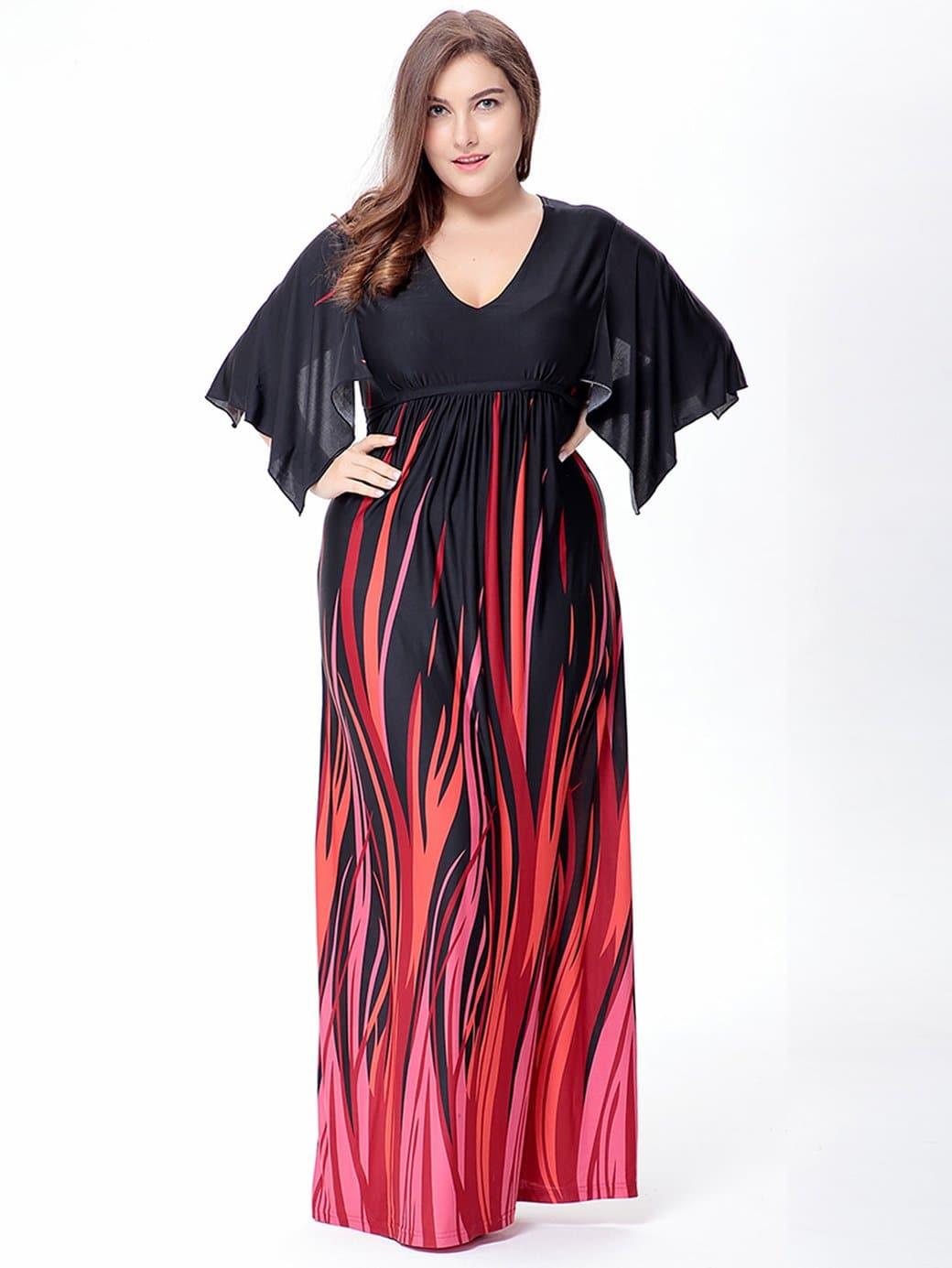 Купить Платье с принтом и узелком и высокой талией, Franziska, SheIn