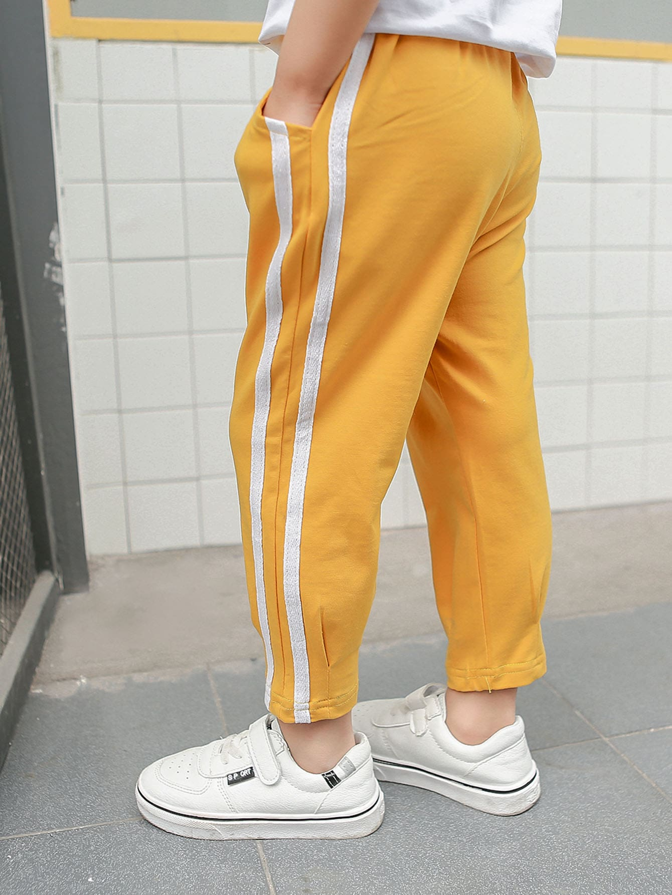 Boys Tape Detail Pants