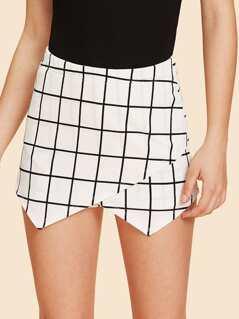 Overlap Front Skirt Shorts