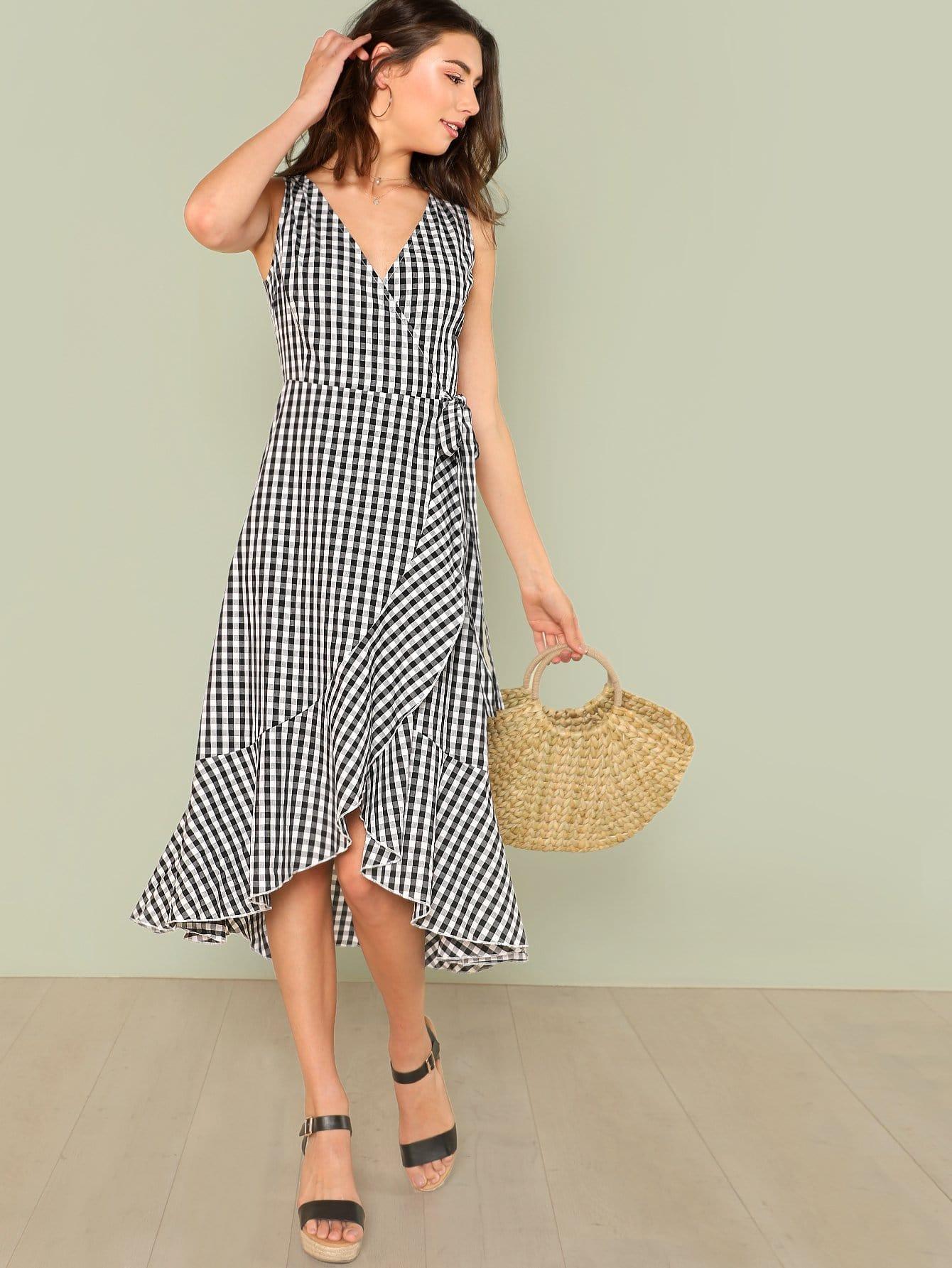 Купить Ассиметричное платье, Zandria Theis, SheIn