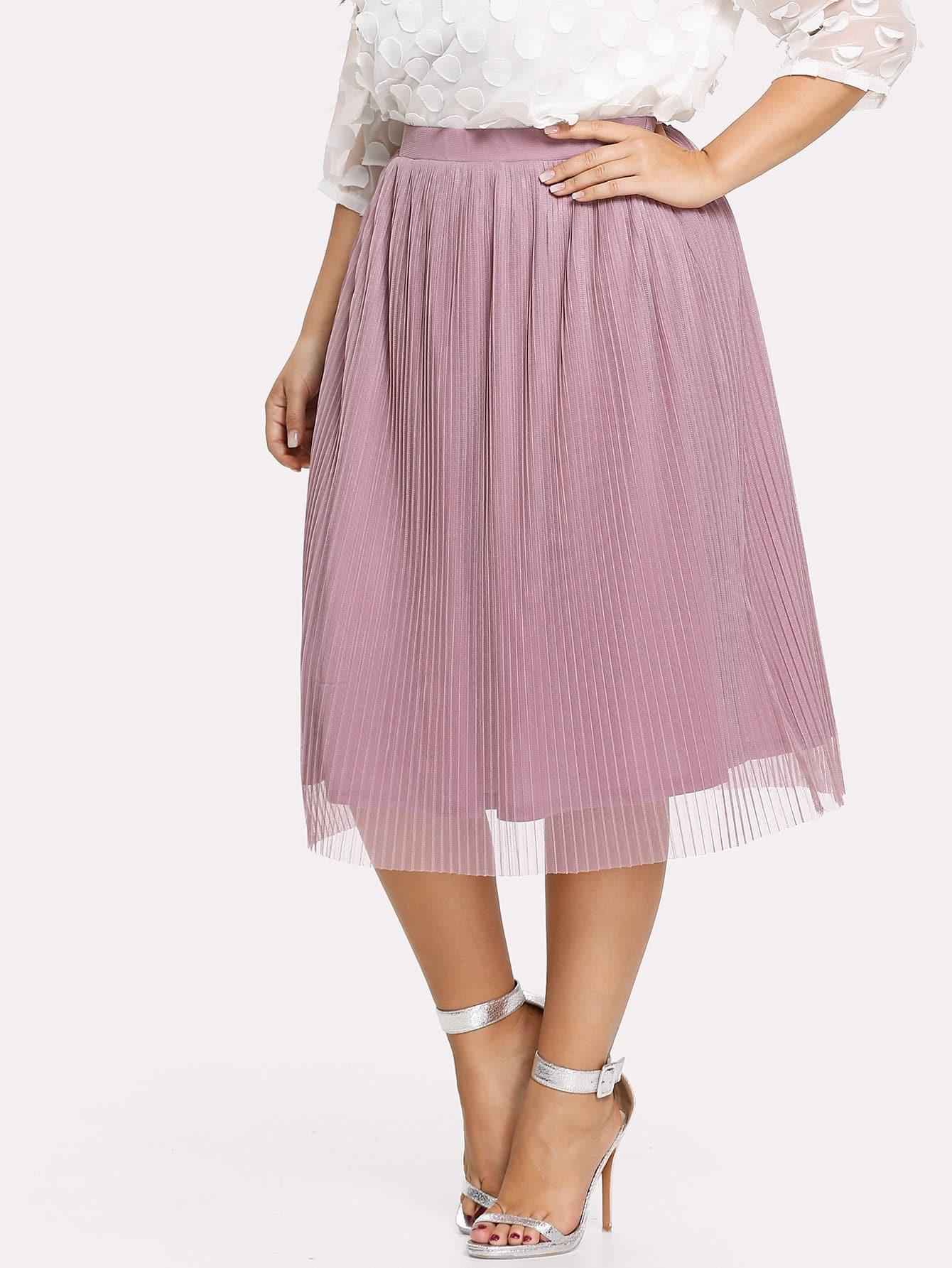 все цены на Solid Pleated Skirt