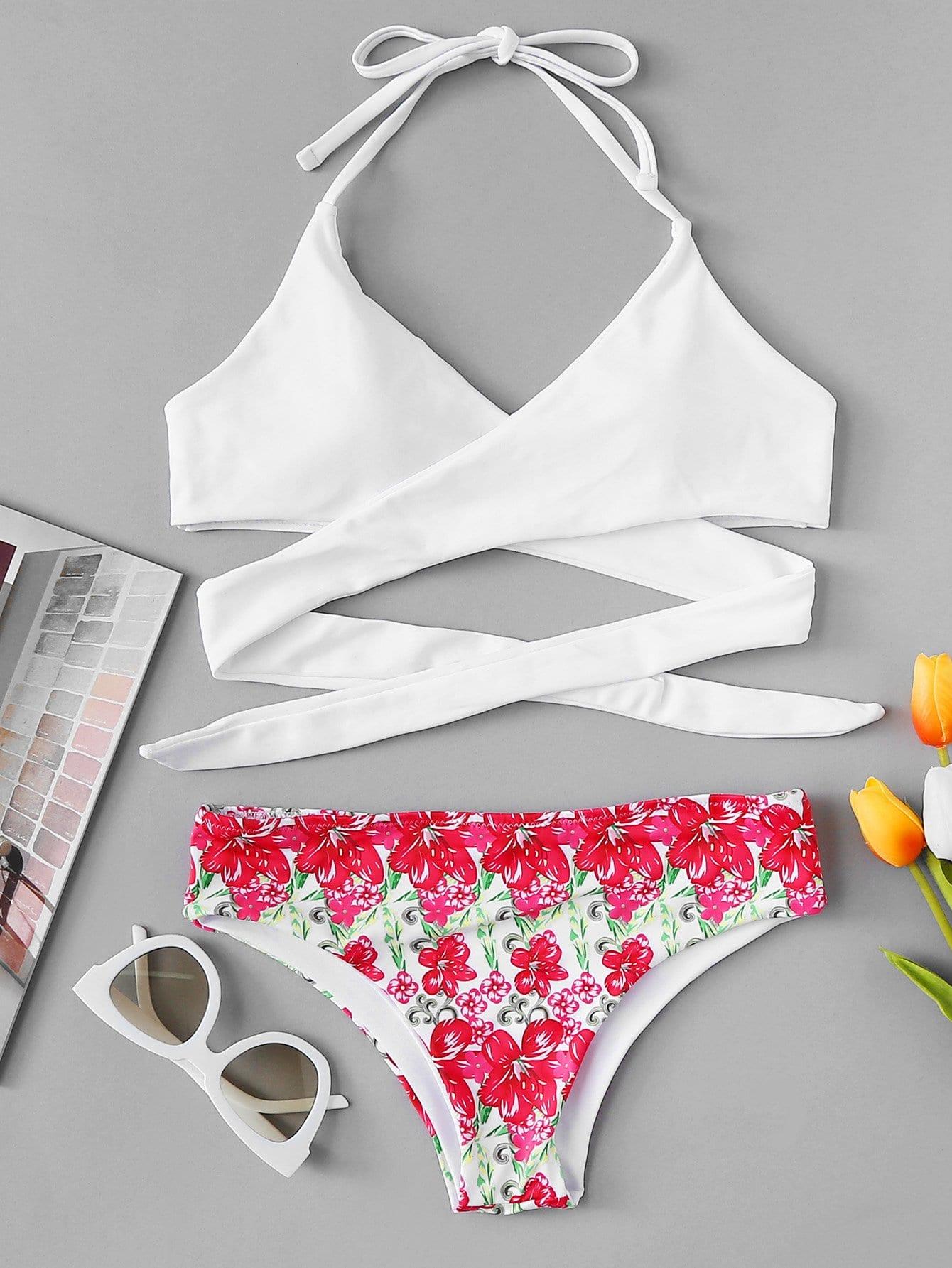 Cross Wrap Mix and Match Bikini Set cross wrap mix and match bikini set