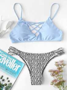 Criss Cross Mix & Match Bikini Set