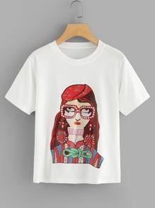 Fashion Lady Print T-shirt
