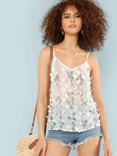 Flower Print Cami Top