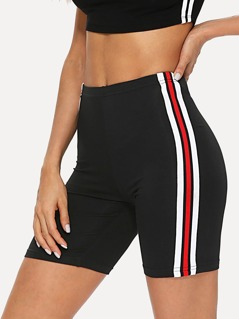 Striped Tape Side Cycling Shorts