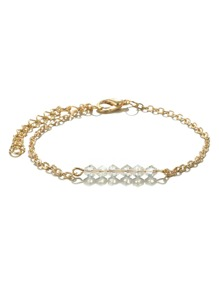 Beaded Detail Ankle Chain