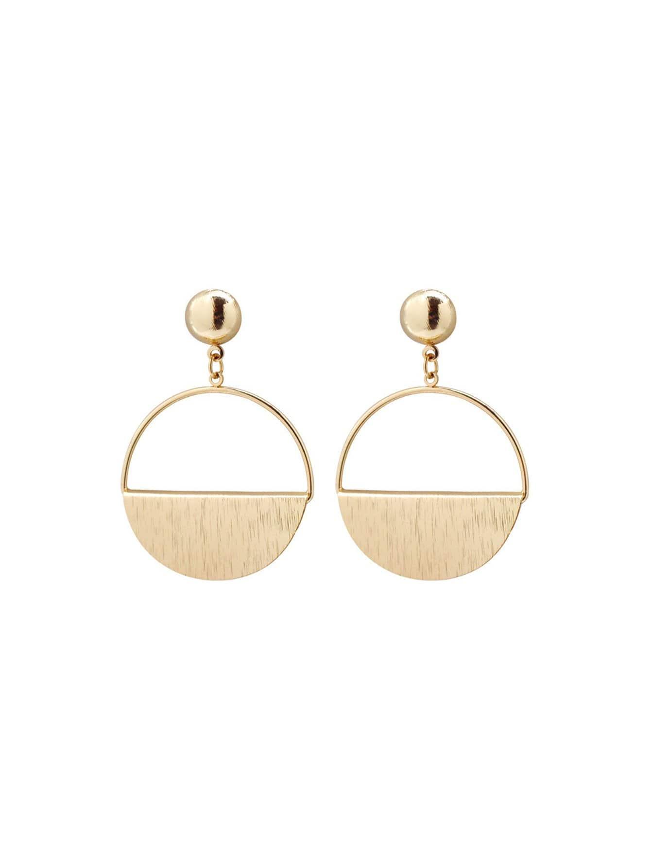 Half Circle Hoop Earrings