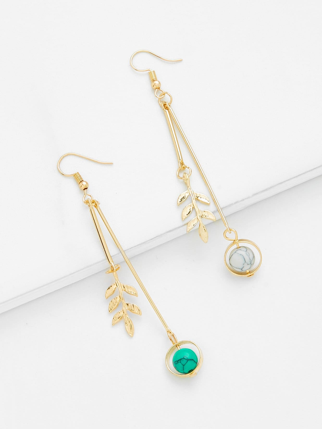 Bar & Hoop Drop Earrings silver plated bar dangle drop earrings