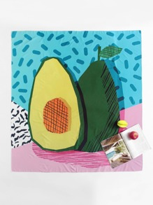 Avocado Print Beach Blanket