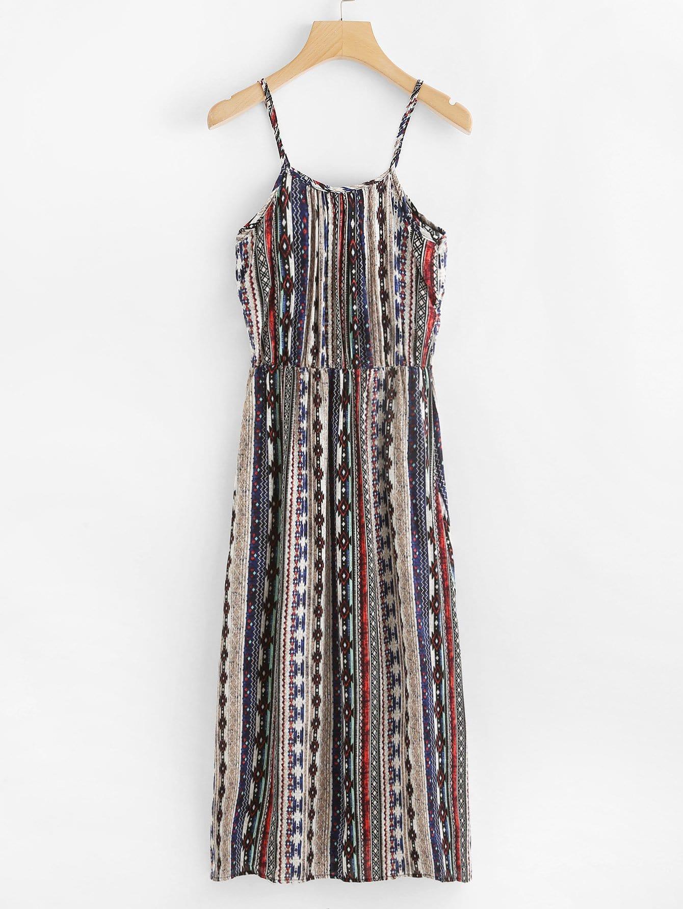 Tribal Print Cami Dress tribal print dress
