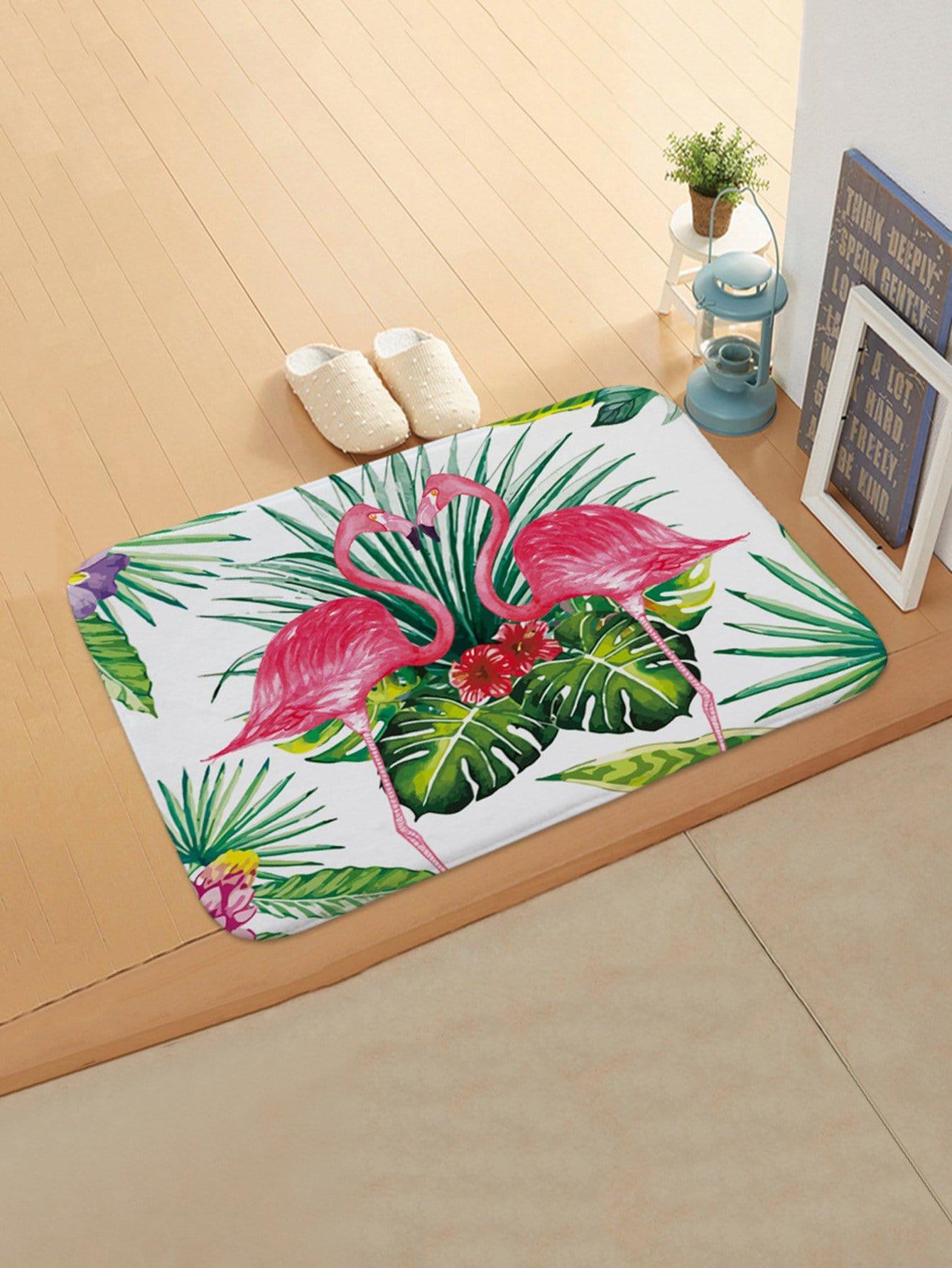 Flamingo & Tropical Print Door Mat все цены