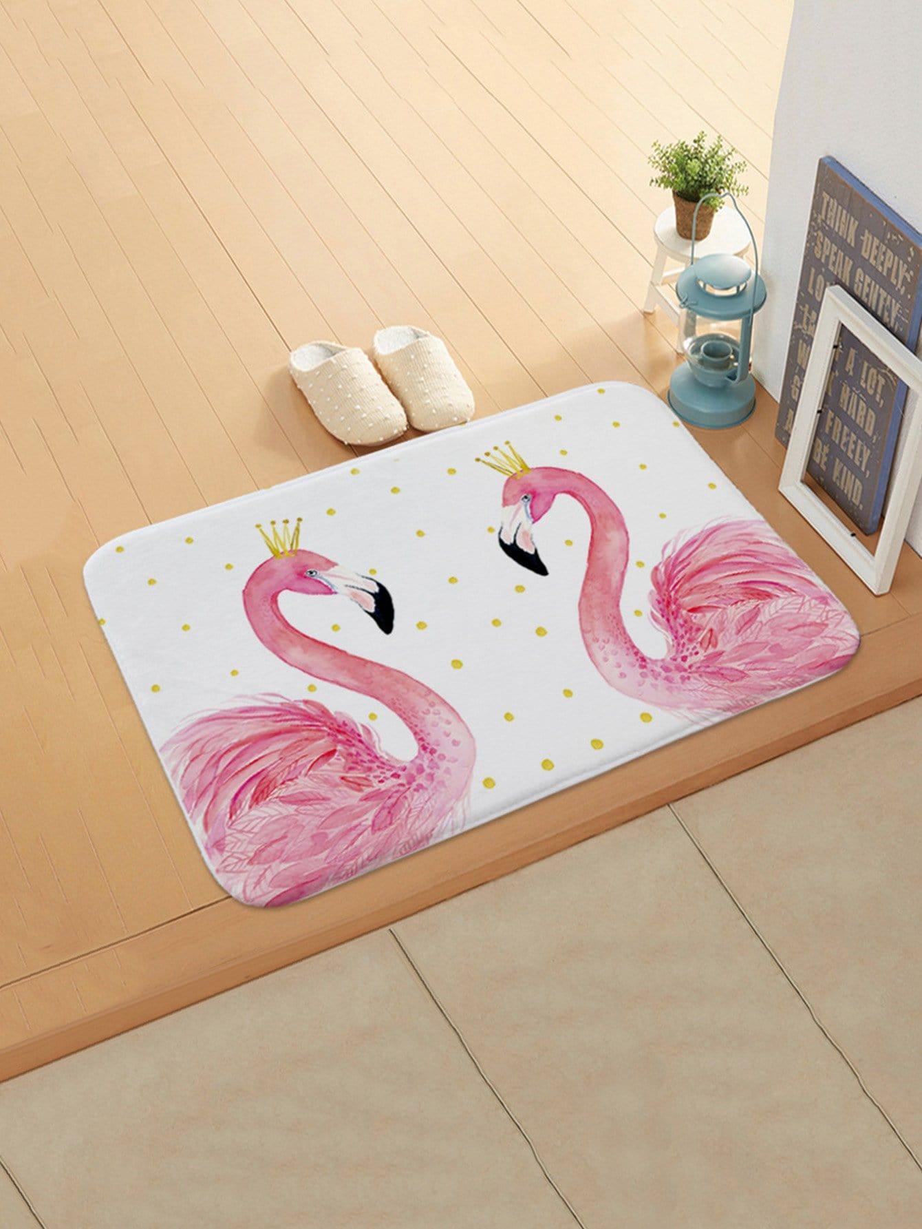 Flamingo Couple Door Mat все цены