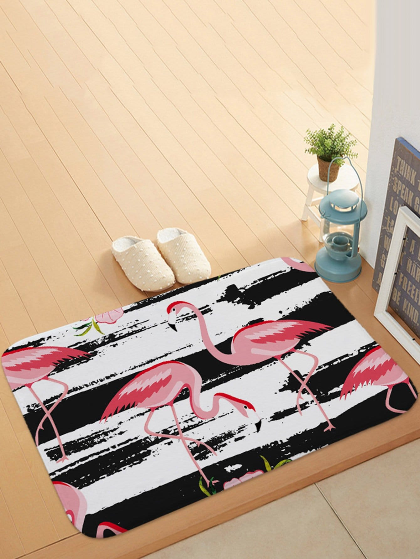 Flamingo Print Door Mat все цены