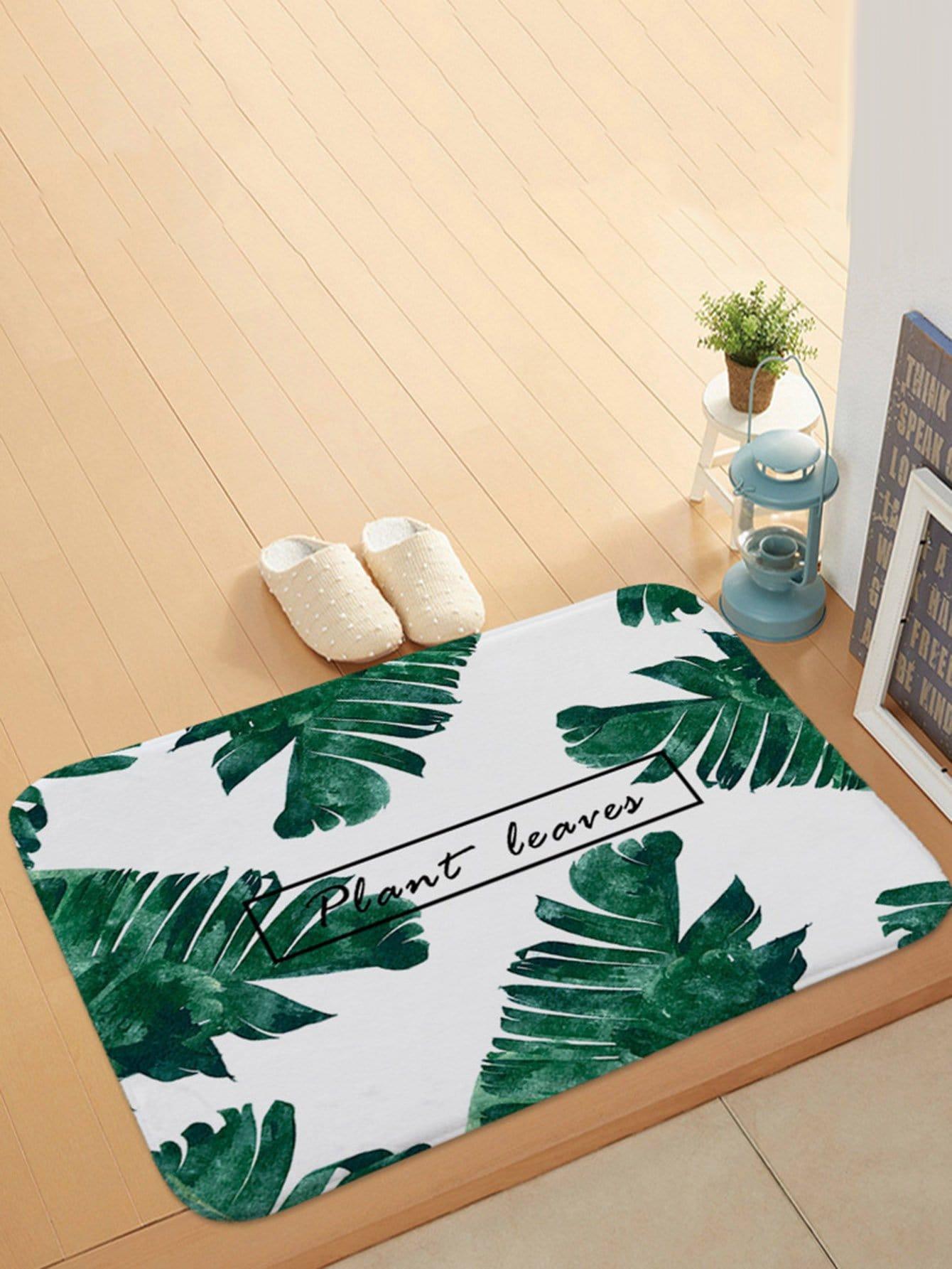 Tropical Print Door Mat patchwork door mat