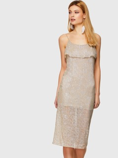 Glitter Layered Cami Dress