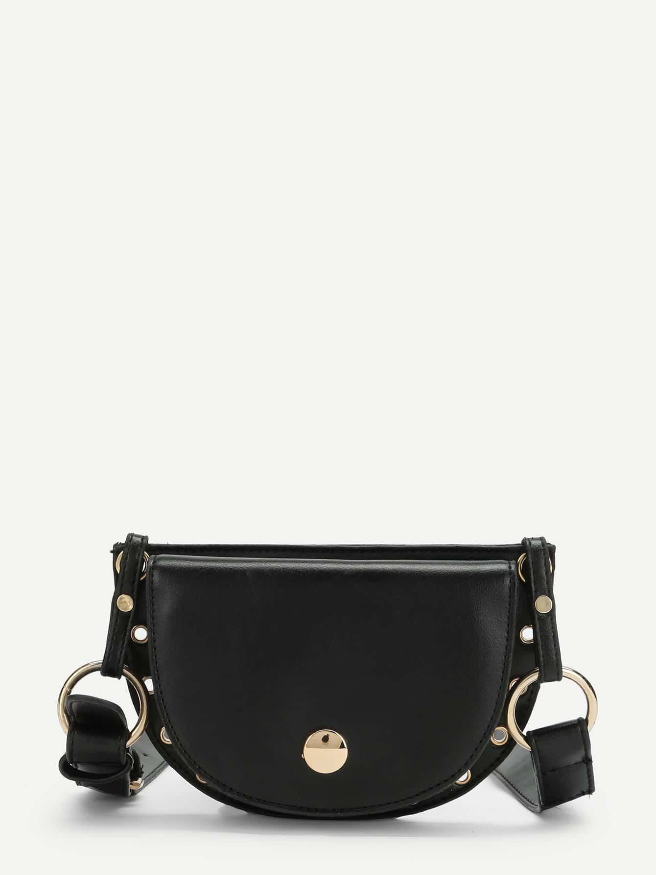 Ring Detail Saddle Bag