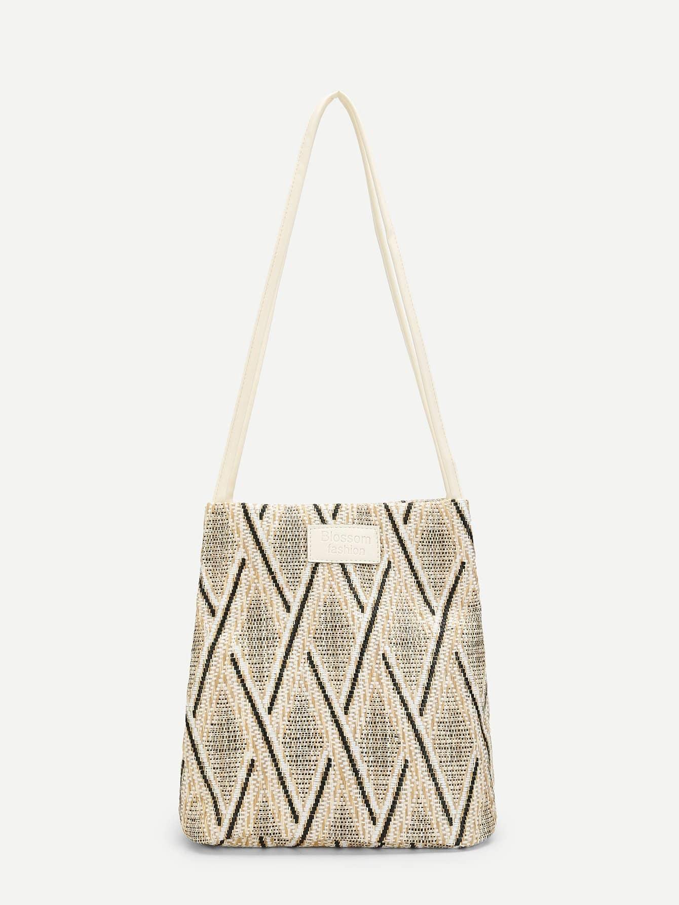 Diamond Laser Cut Woven Bag
