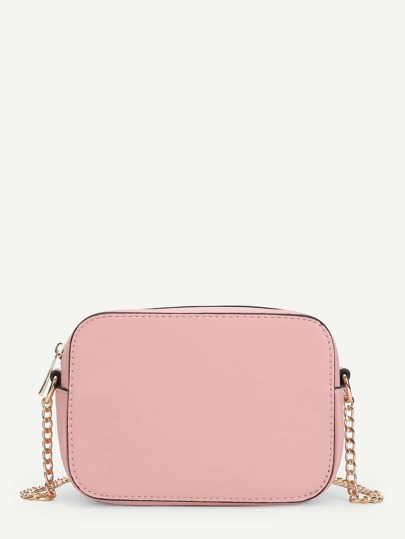 Contrast Trim Crossbody Chain Bag