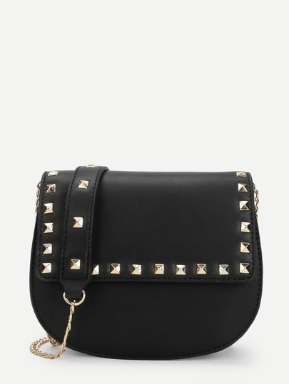 Studded Trim Saddle Bag