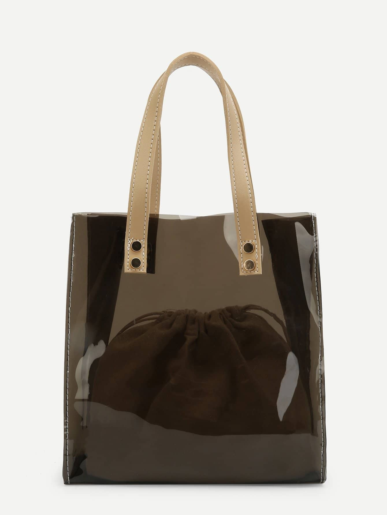PVC Tote Bag With Inner Pouch net tote bag with inner pouch