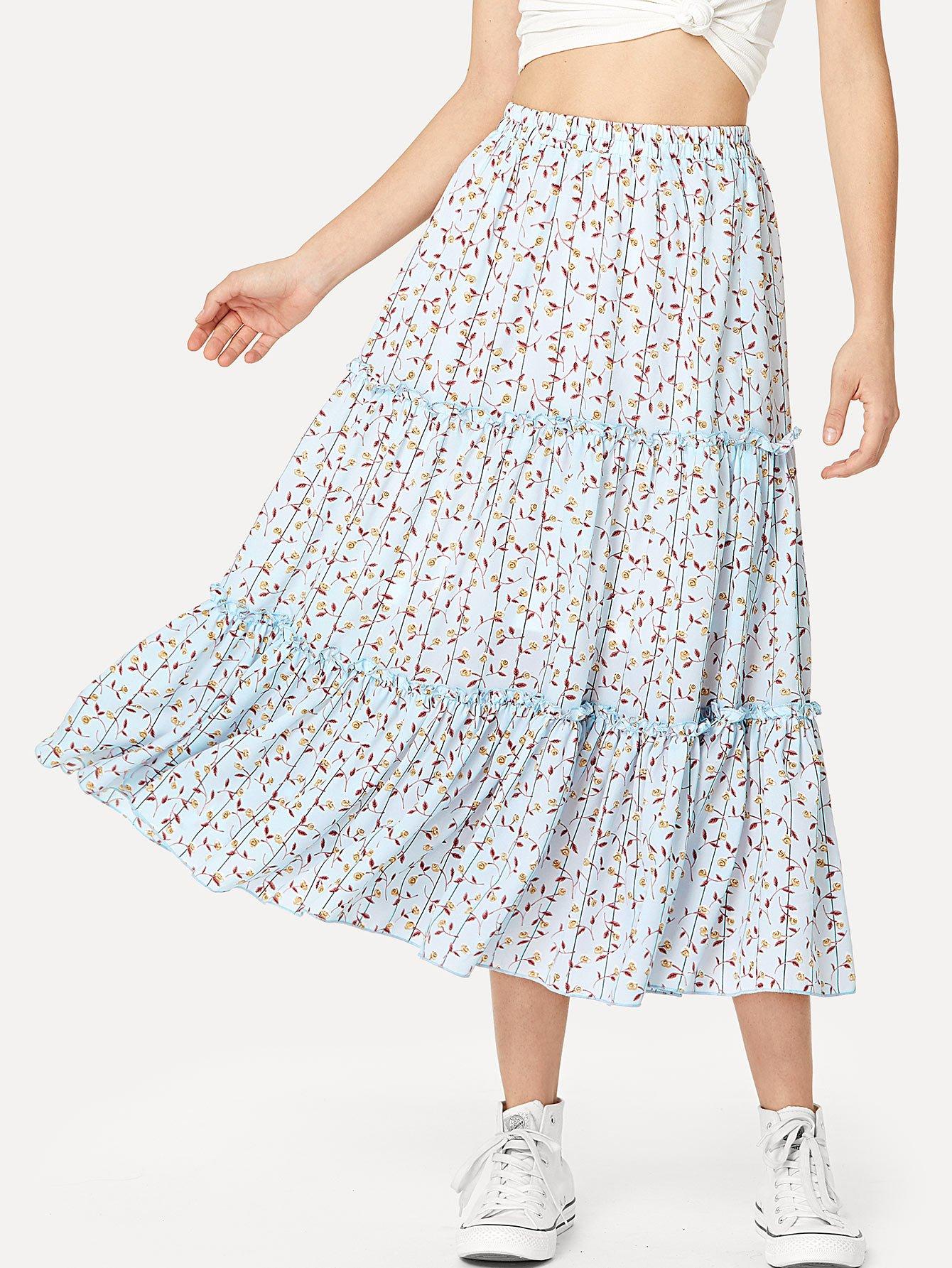 Купить Цветочная юбка, Jana, SheIn