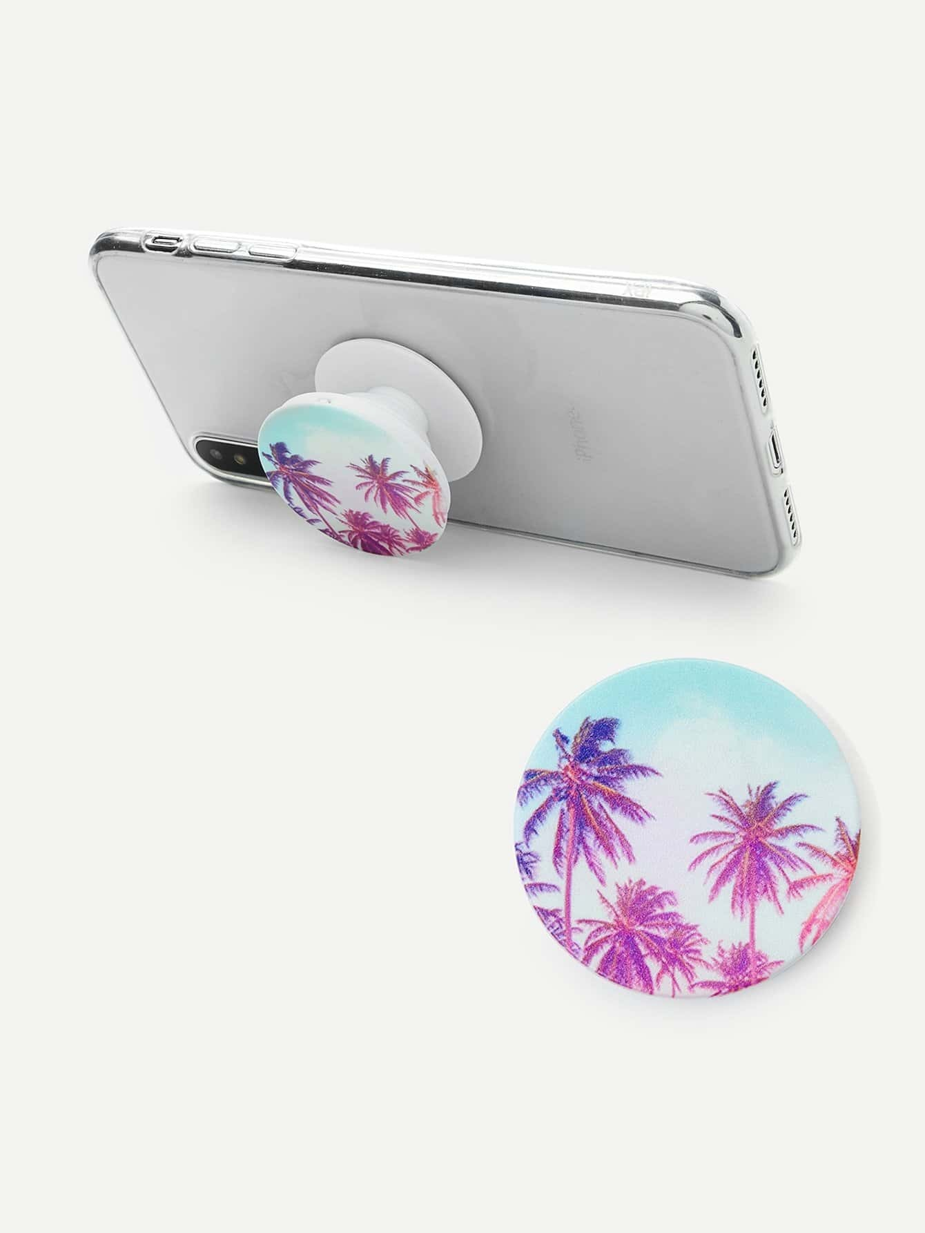 Palm Tree Pattern Portable Phone Holder convenient folding portable multifunctional phone holder red