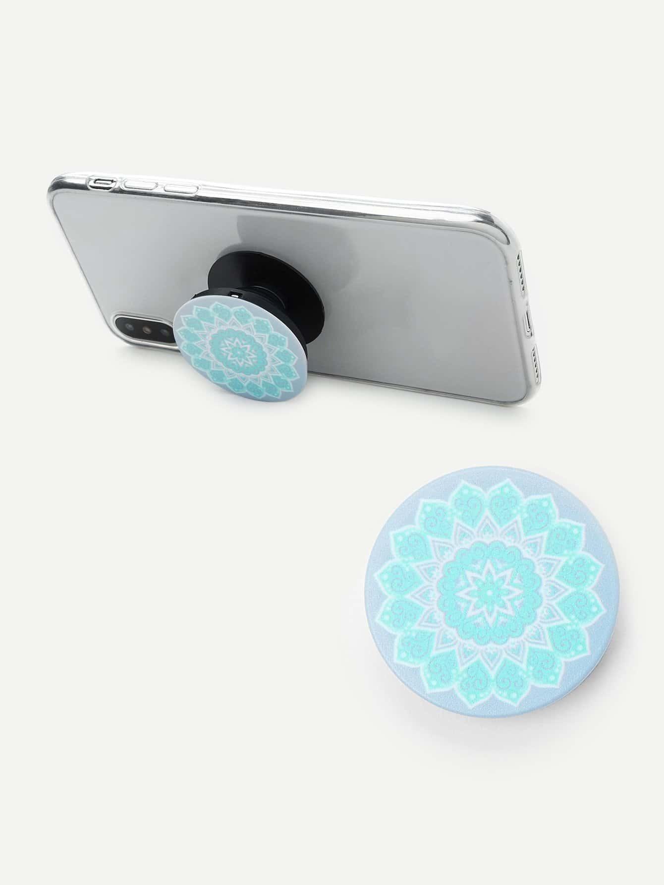 Retro Flower Pattern Portable Phone Holder convenient folding portable multifunctional phone holder red
