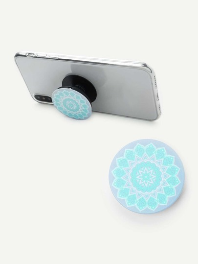 Retro Flower Pattern Portable Phone Holder