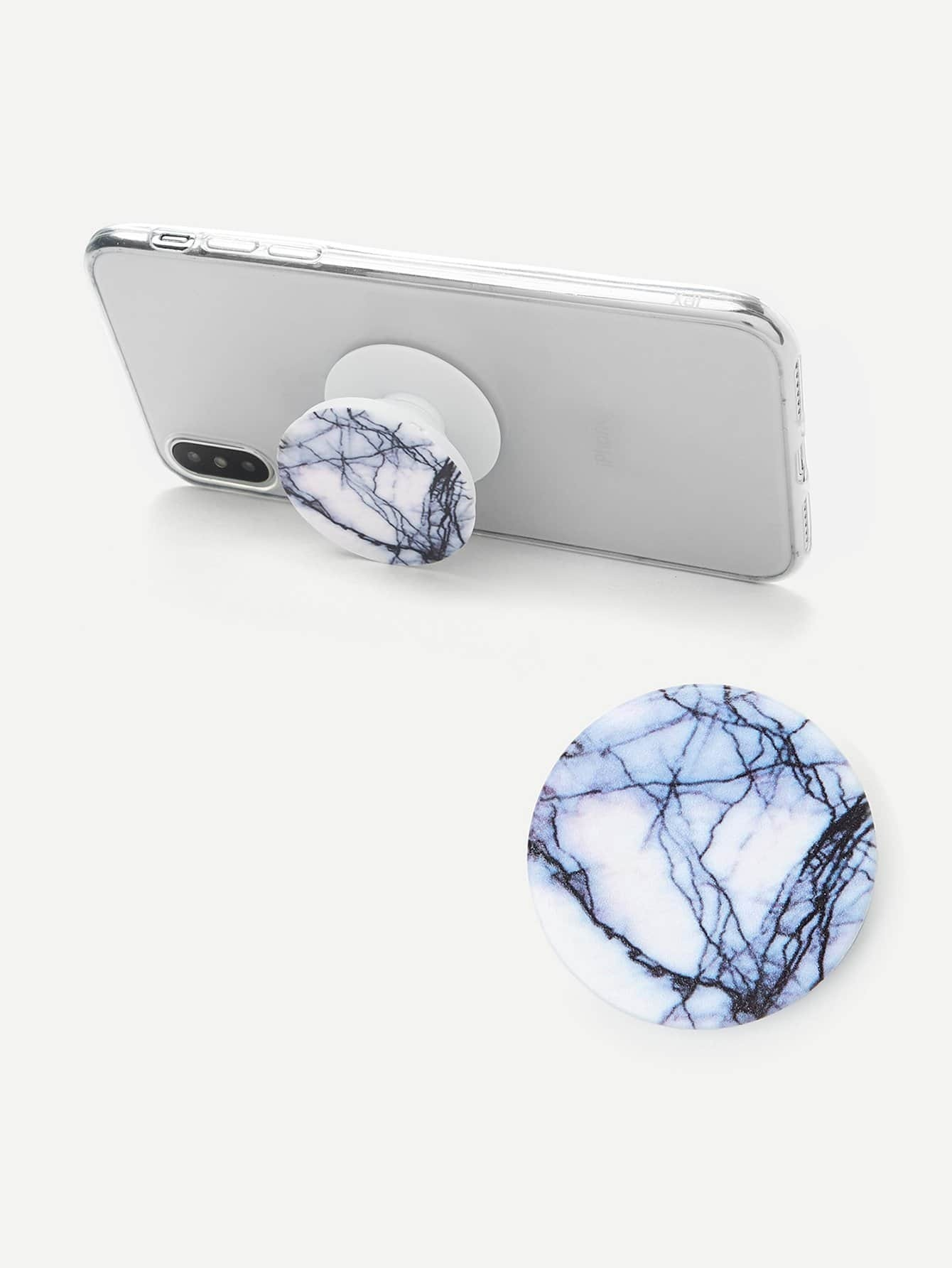 Marble Pattern Portable Phone Holder convenient folding portable multifunctional phone holder red