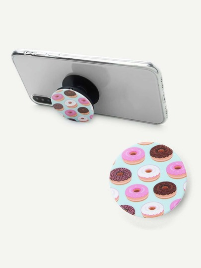 Donuts Pattern Round Durable Phone Holder