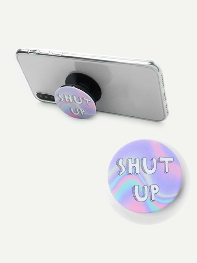Letter Print Round Durable Phone Holder
