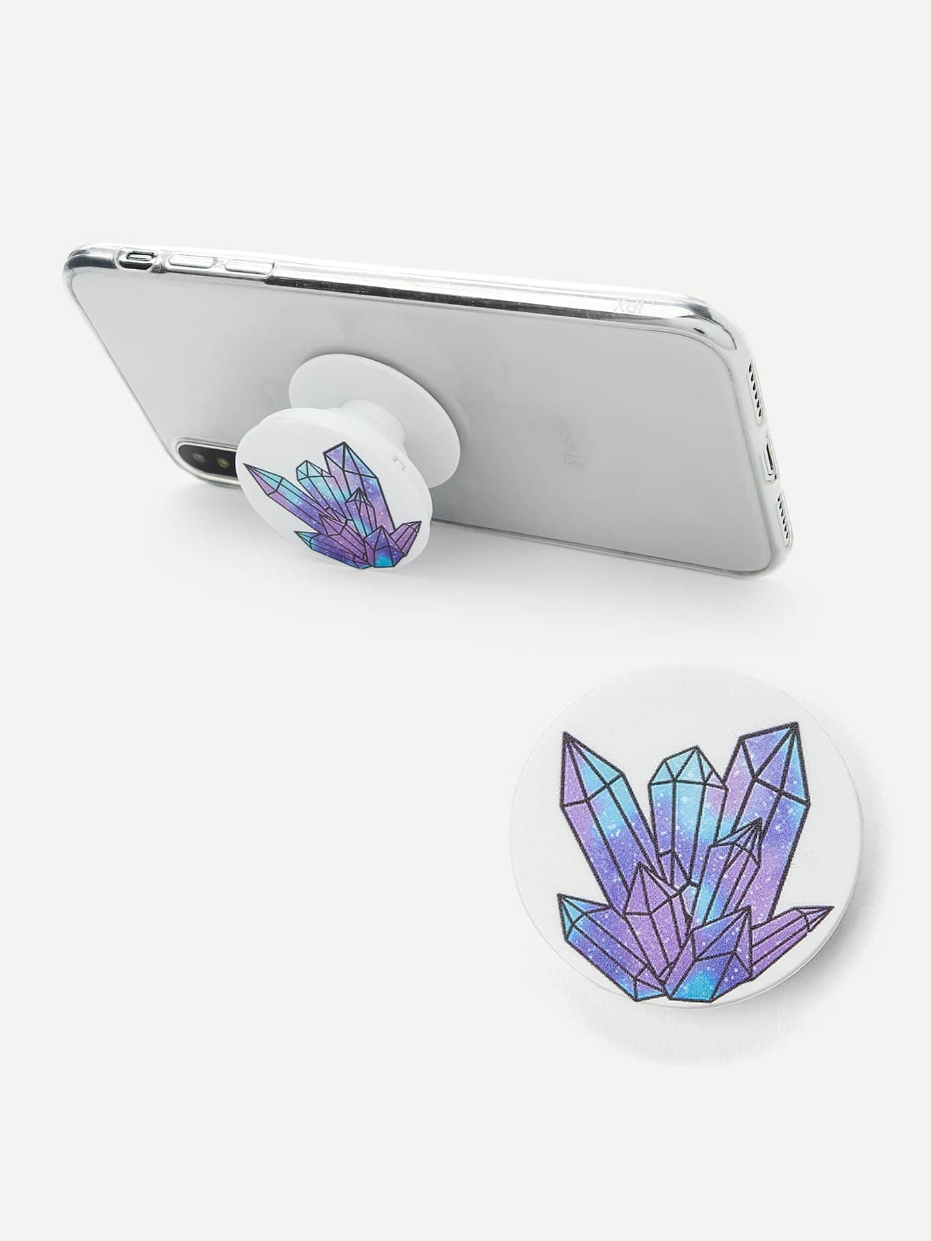 Crystal Pattern Round Portable Phone Holder convenient folding portable multifunctional phone holder red