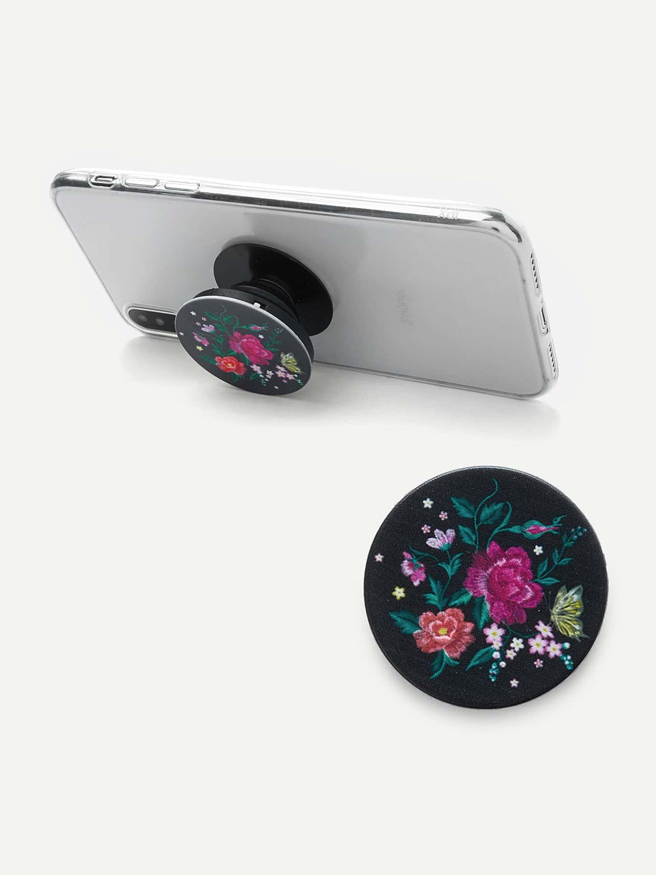 Floral Phone Gasbag Phone Holder avocado pattern gasbag phone holder
