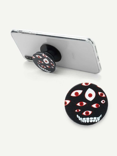 Monster Print Round Gasbag Phone Holder