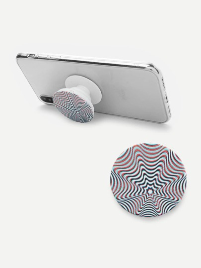 Abstract Lines Gasbag Phone Holder