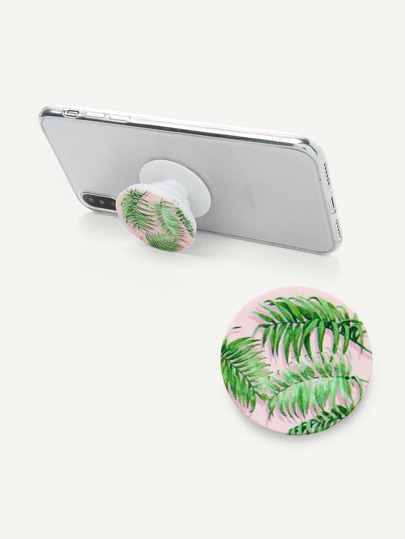 Tropical Print Round Gasbag Phone Holder