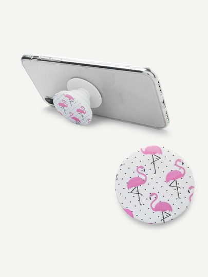 Flamingo Print Gasbag Phone Holder