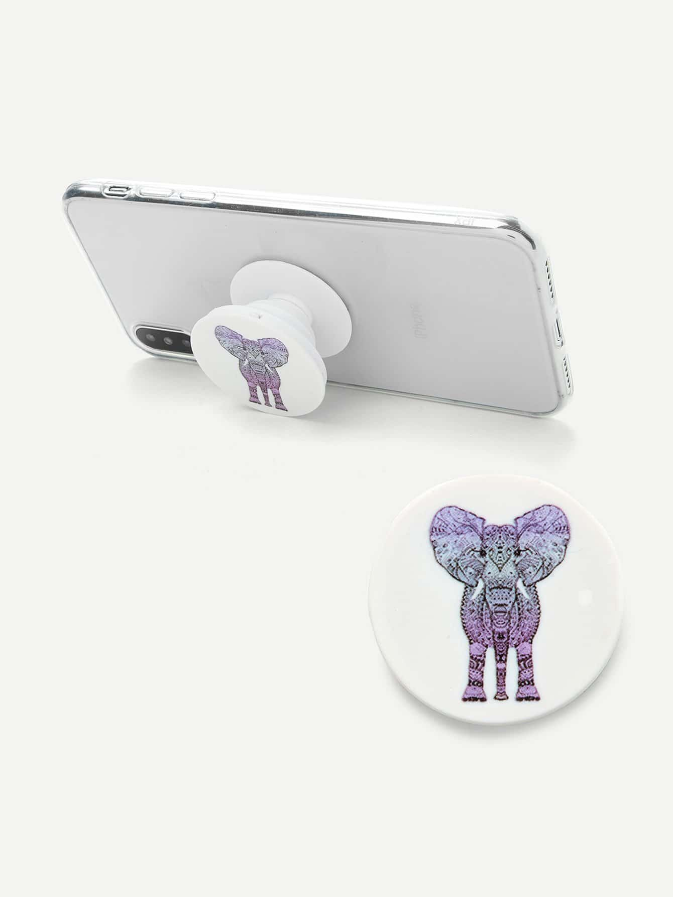 Elephant Pattern Gasbag Phone Holder avocado pattern gasbag phone holder