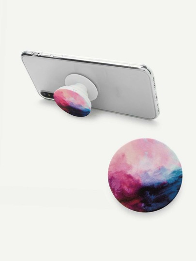 Watercolor Round Gasbag Phone Holder
