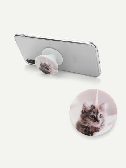 Cat Print Gasbag Phone Holder