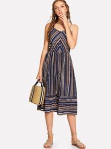 Striped Tribal Cami Dress