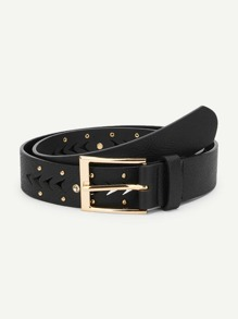 Metal Buckle Hollow Out Belt