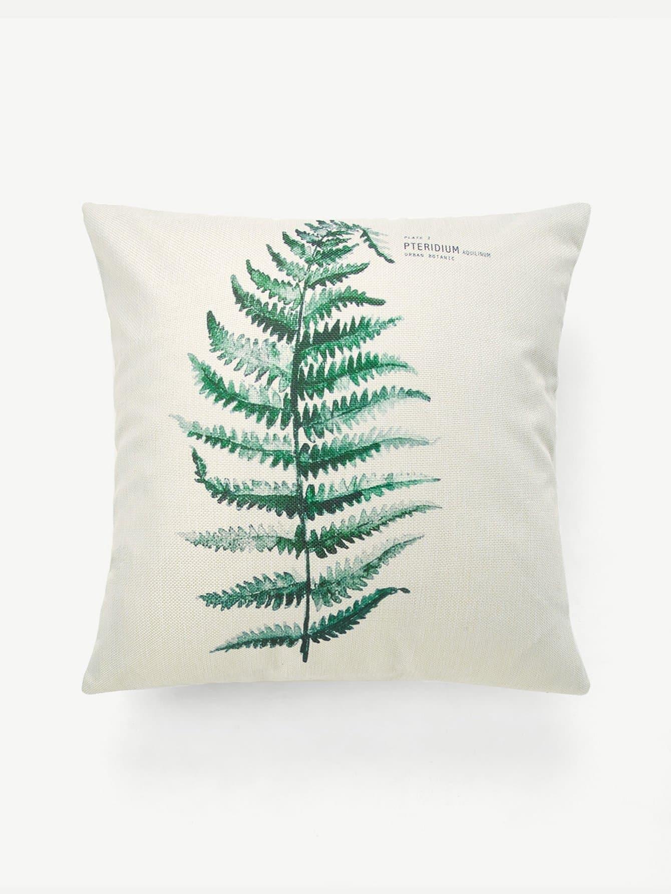 Palm Print Pillowcase Cover panda print linen pillowcase cover