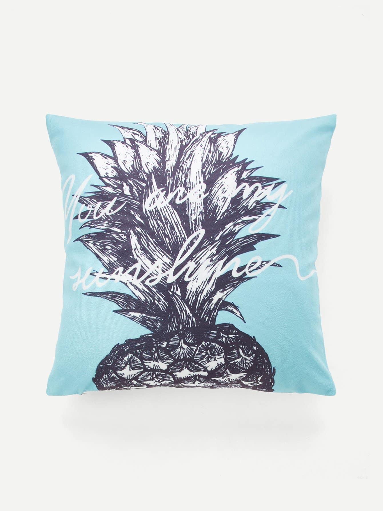 Купить Наволочка для подушки с принтом ананас, null, SheIn